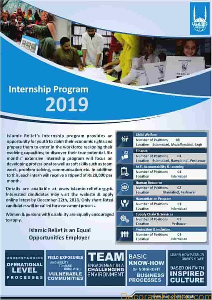 islamic relief internship and jobs ad 2019