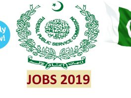 Federal Public Service Commission FPSC January 2019 Jobs