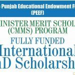 Chief Misinter Merit Scholarship (CMMS) Program 2019-20