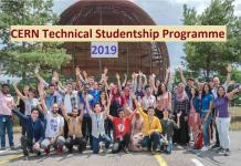 CERN Technical Studentship Programme 2019 in Switzerland