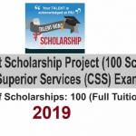 Central Superior Services CSS Talent Hunt Scholarship Project 2019-2020