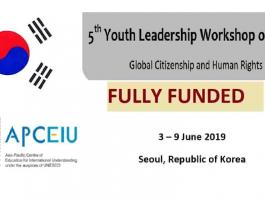 UNESCO 2019 5th Youth Leadership Workshop on GCED In Seoul Korea