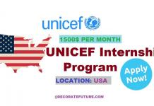 UNICEF Internship Program in USA 2019 Education Cannot Wait