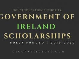 Government of Ireland Scholarships 2019-2020
