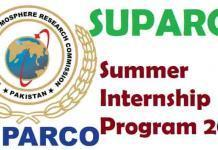 SUPARCO Summer Internship Program 2019