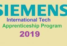 Siemens International Tech Apprenticeship Program 2019