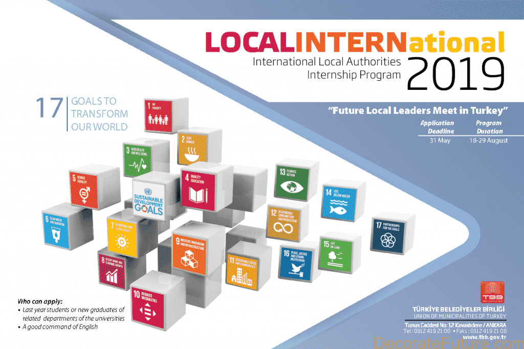Turkey International Local Authorities Internship Program 2019