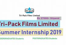 TriPack Films Limited Summer Internship 2019