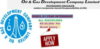 Ogdcl internship online Apply