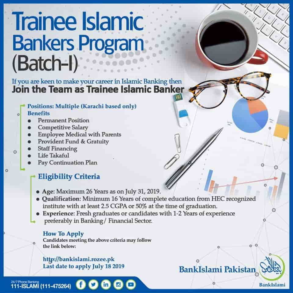BankIslami Trainee Islamic Banker Program 2019 Batch 1