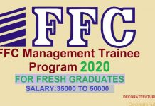 FFC Managment Trainee Program 2020